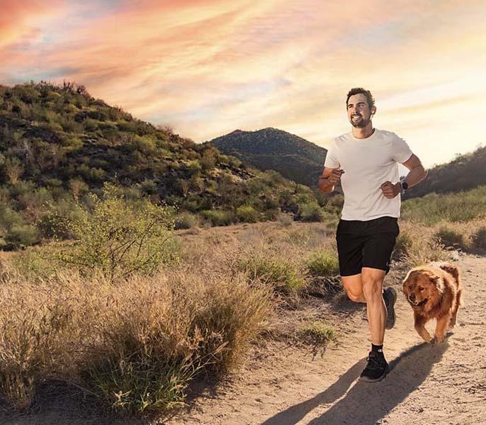 Correr por el campo